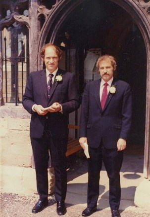 With brother Dave 1976