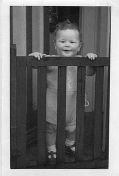 Behind bars, aged one !!