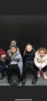 Ice skating with your sister and 2 little friends mikey always wanted to sit next to you Mia we all miss you so much princess xx