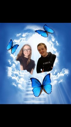 Mia you have your big cousin Thomas with you now best friends forever and always love you my angels xx