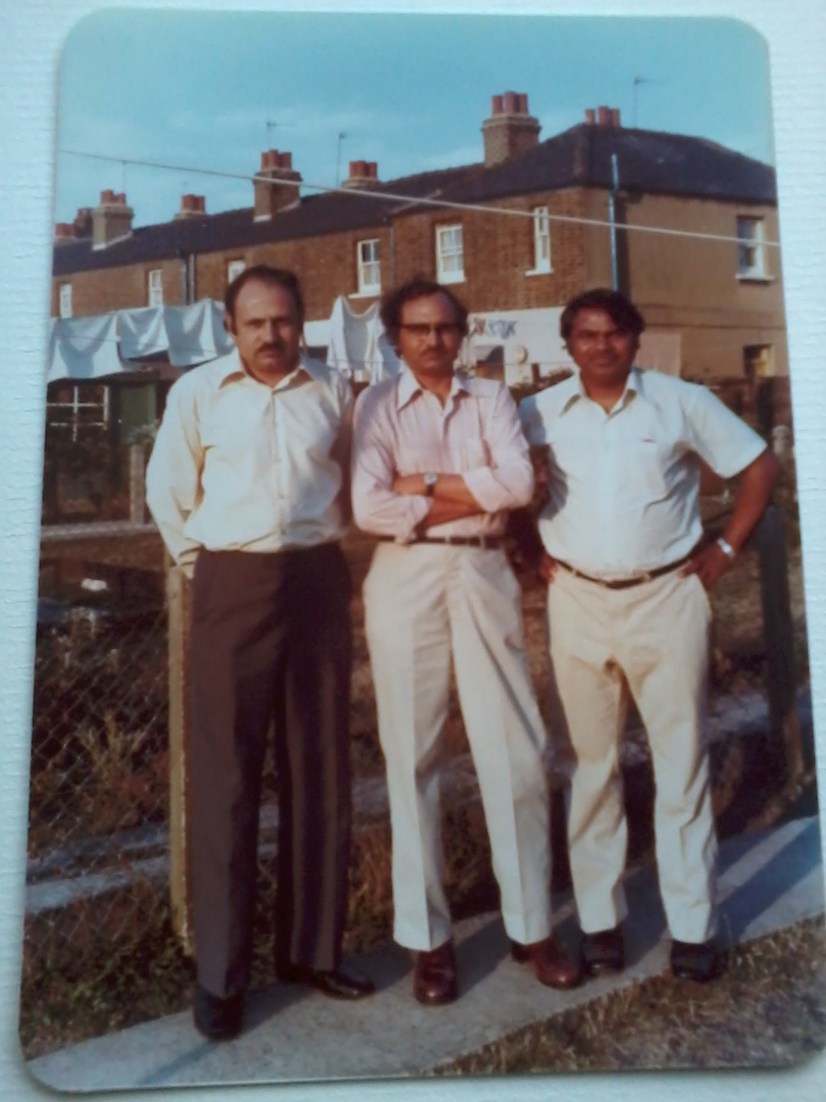 """The 3 AMIGOS;"" my dad ,his brother and my mum's uncle(Kabir Hussein 1937-2002), Greater London 1981"