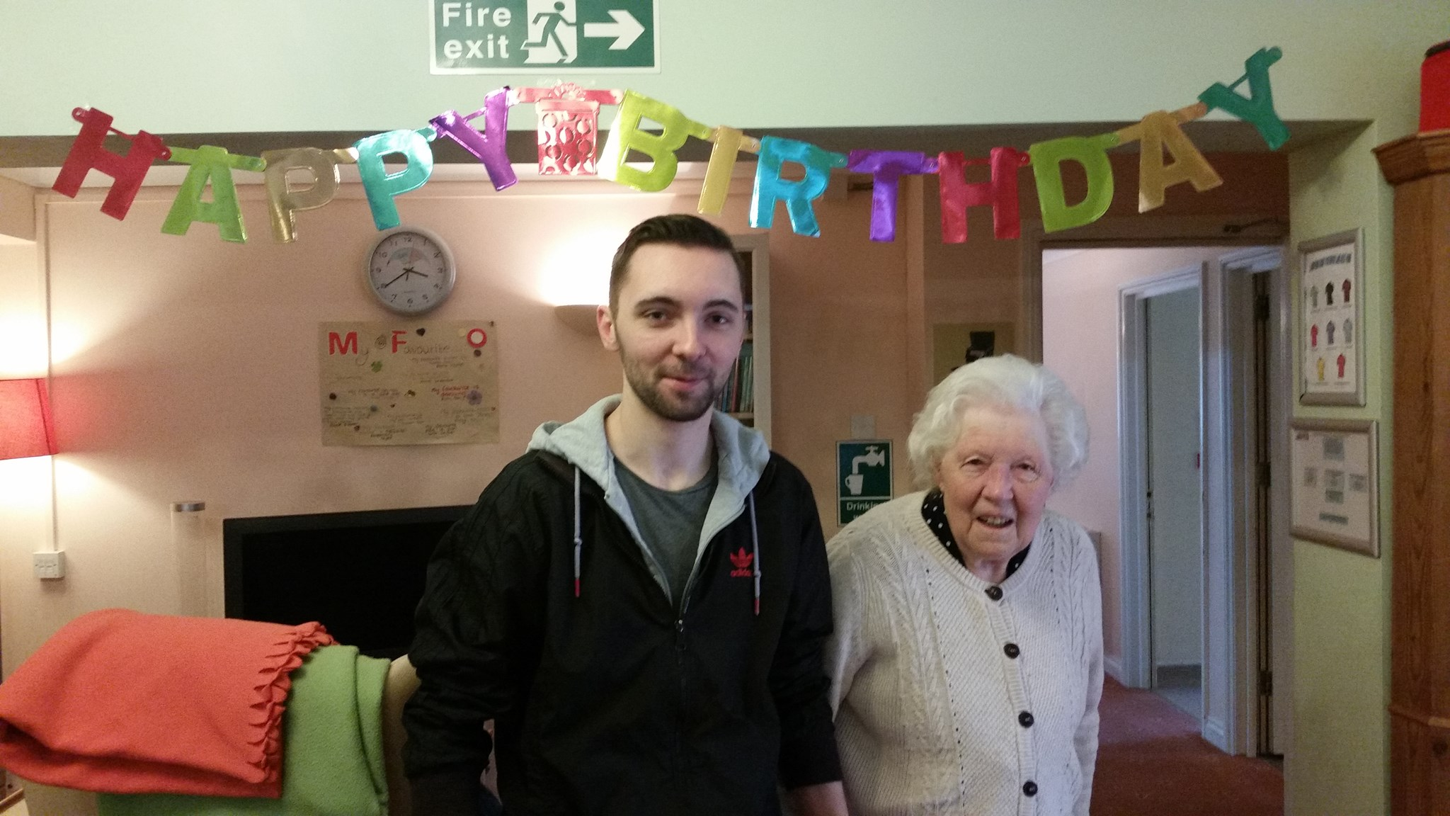 Mother on her 90th birthday