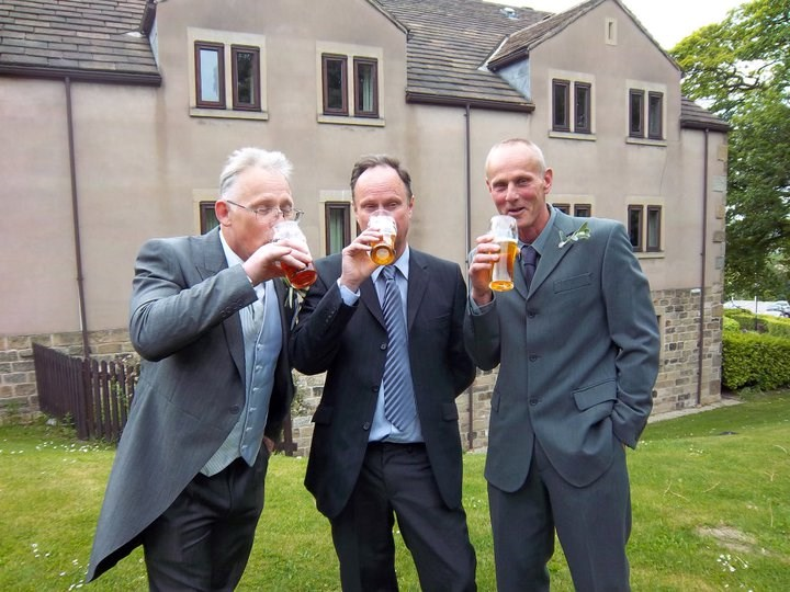 May 2011 Neil enjoying a beer with his brothers