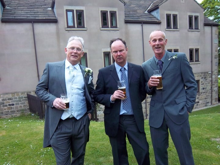 Neil and his brothers still enjoying that beer!