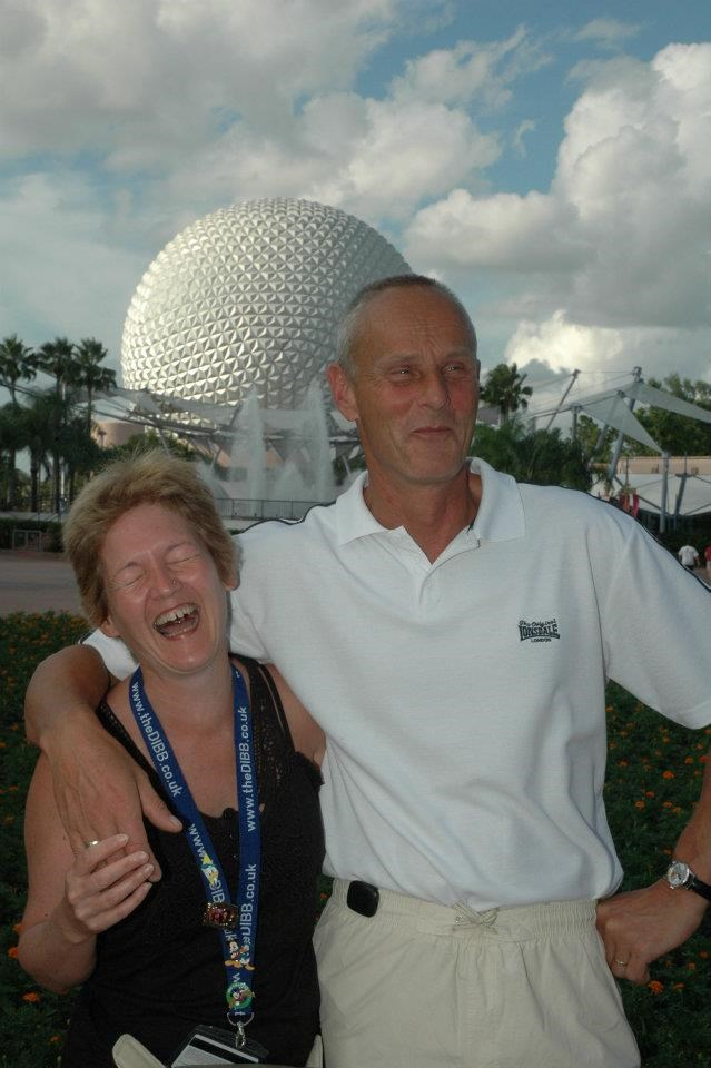 Neil had obviously cracked a rude joke (Epcot 2009)