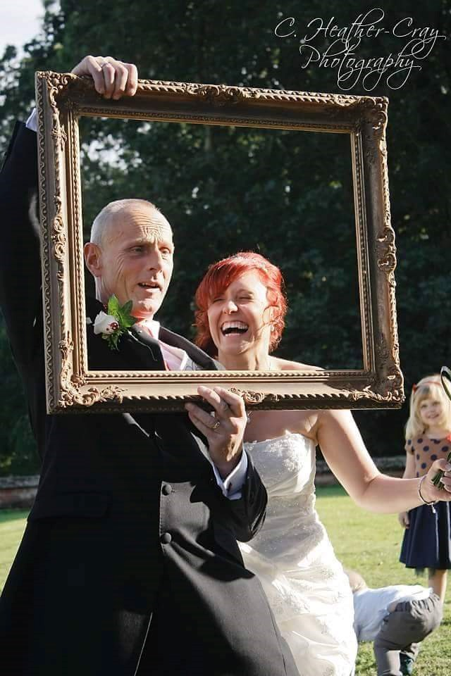 Pa and Hayley (bob) messing around at our wedding (2012)