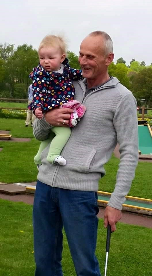 Seren loved her papa, even though her face says different!!