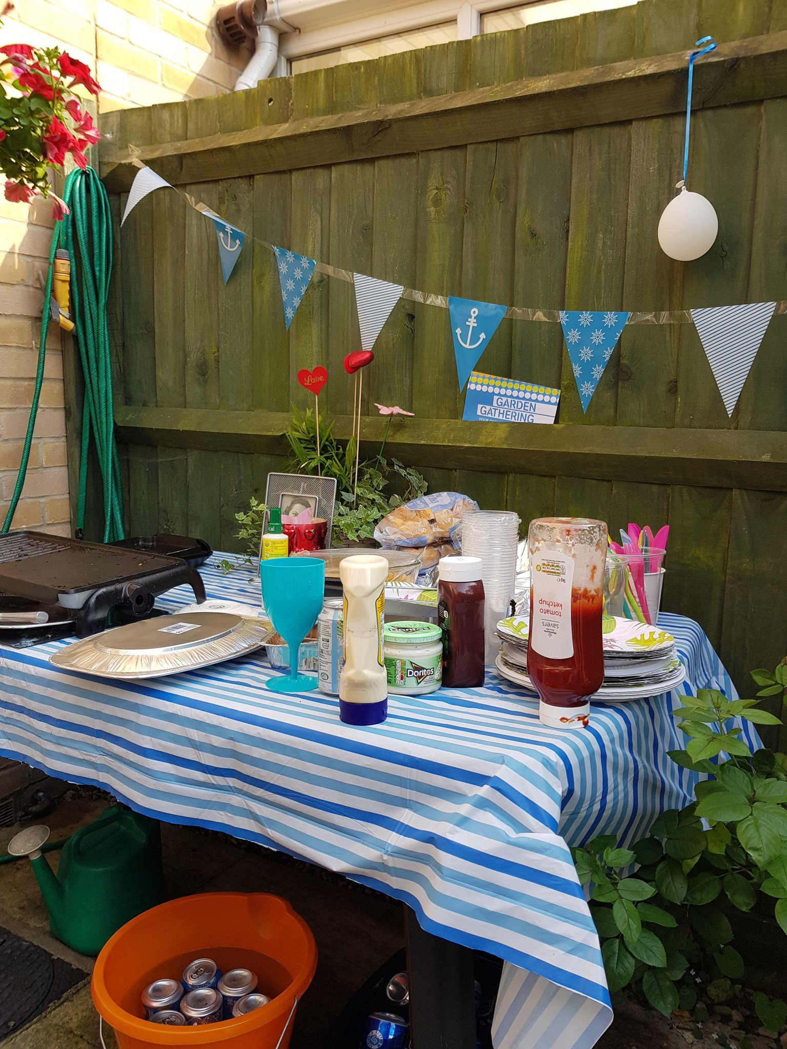 Garden Gathering Party at my house yesterday, Sunday 1st July