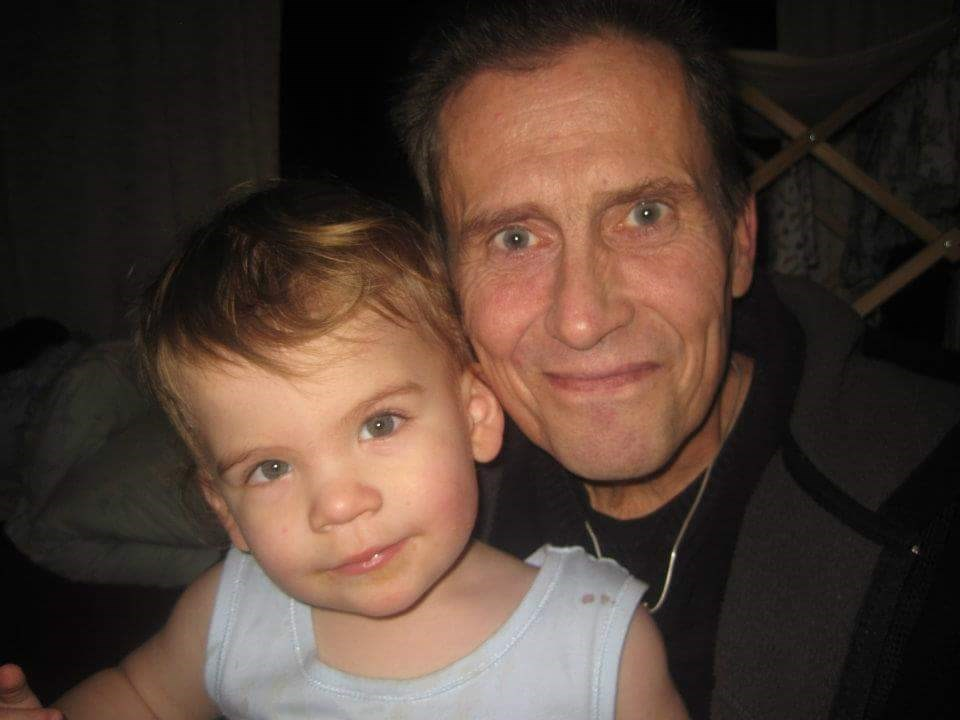 Chris with his grandson Finlay