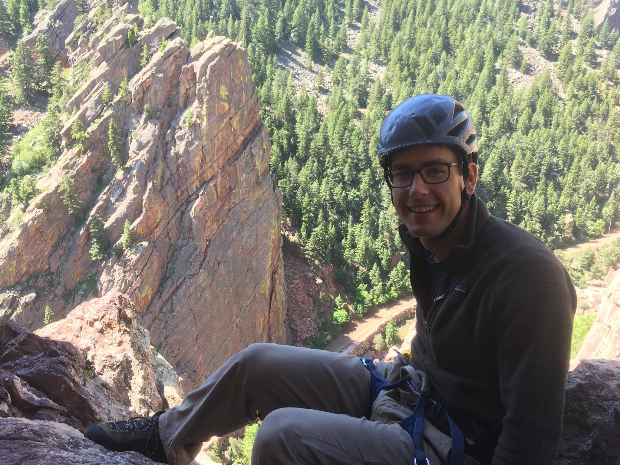 Escaping the summer heat by finding the only shade in Eldorado Canyon