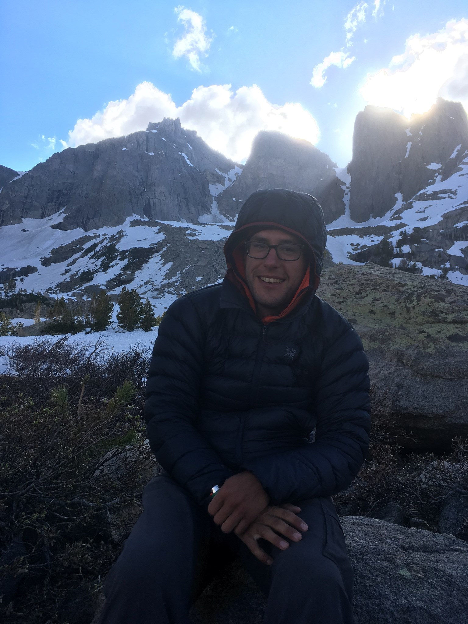 Marco at Cirque of the Towers in WY