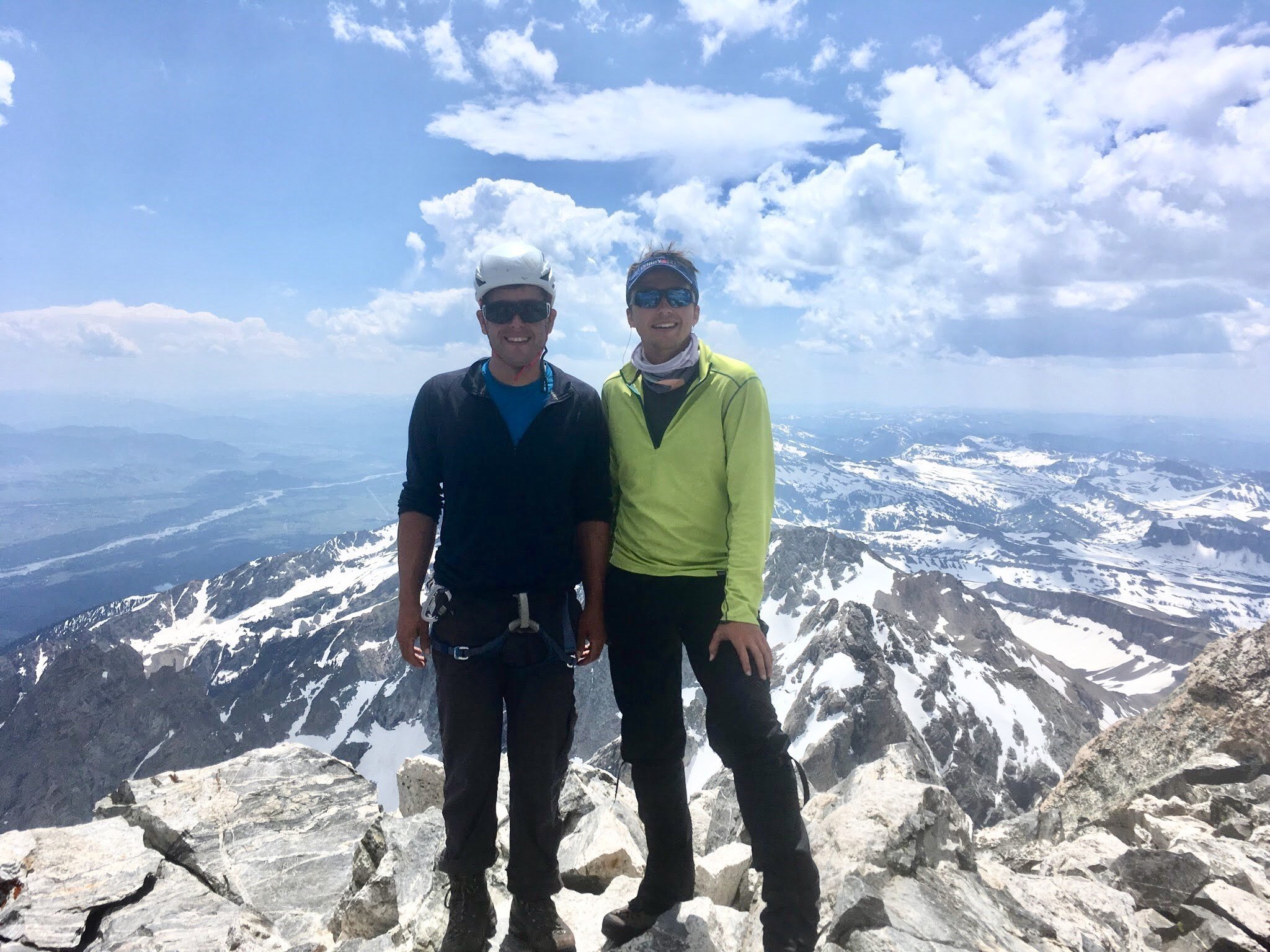 Marco and I on the summit of the Grand Teton. All smiles but completely exhausted.
