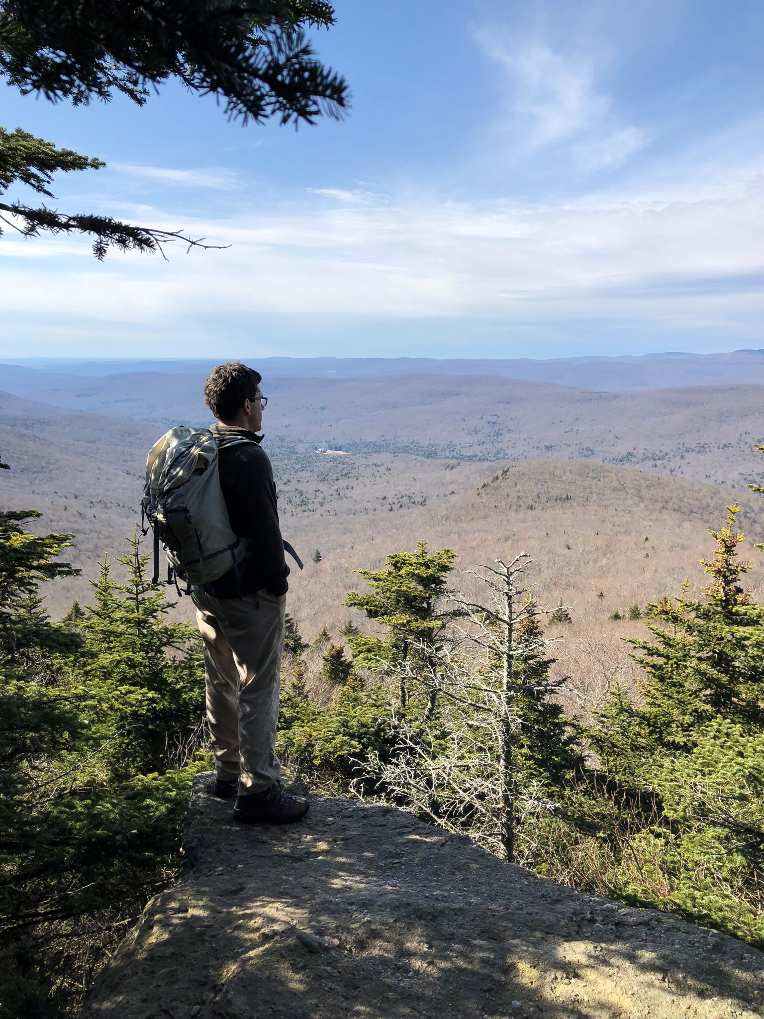 Taking in the view from Plateau Mountain in the Catskills, Feb 2018