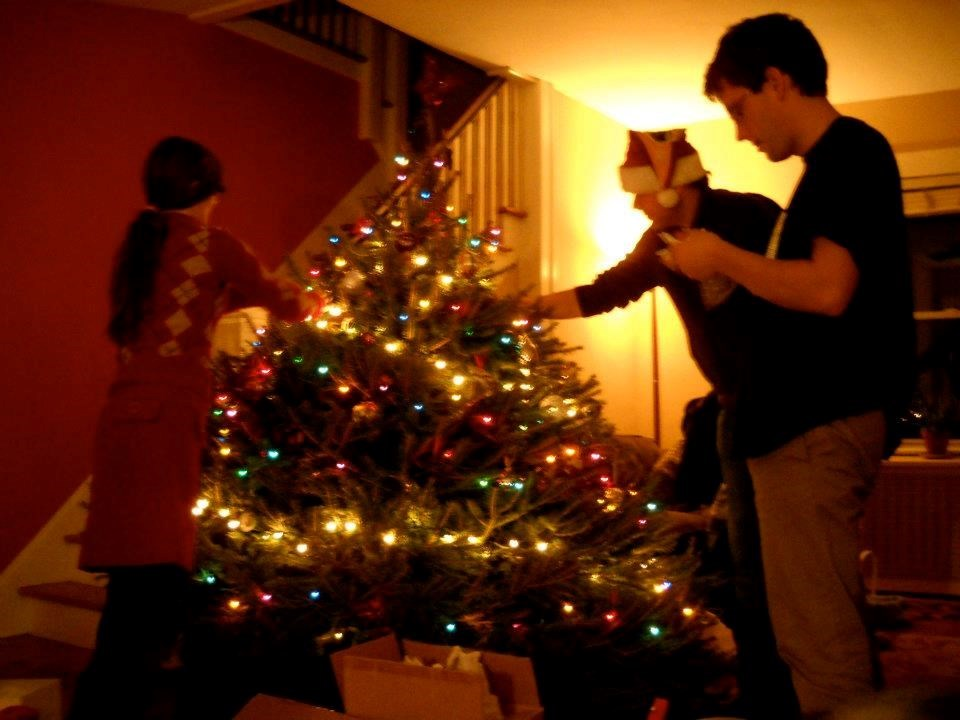 Christmas 2011, when Marco surprised us with the fattest Christmas tree for our house