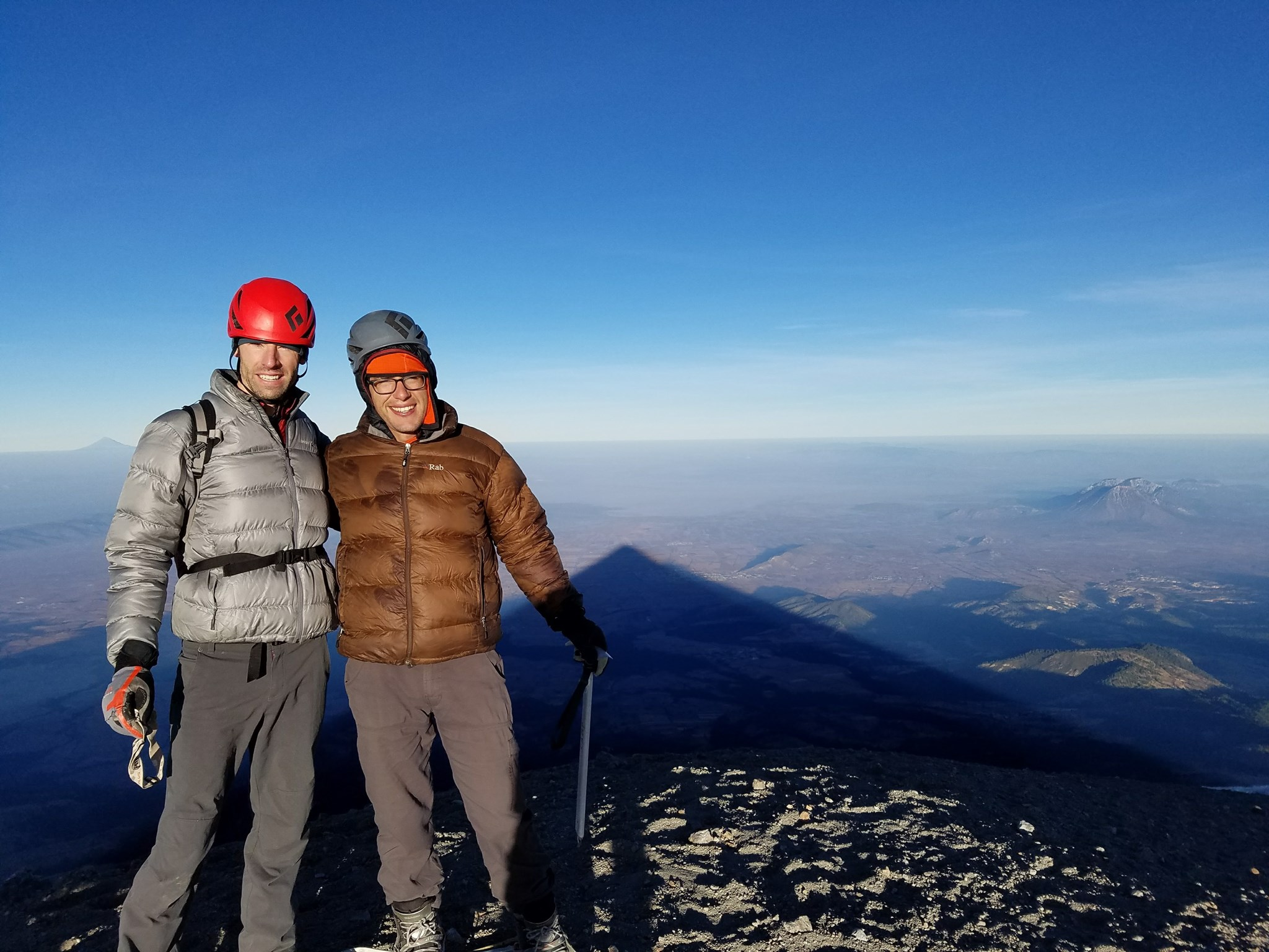 Marco and I on the summit of Aconcagua, MX, one of the best shared moments of my life
