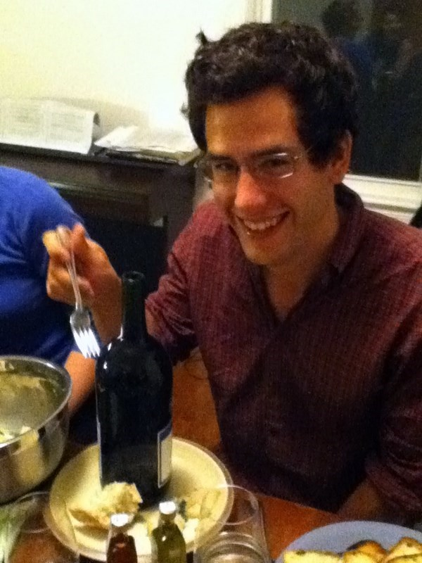 Marco trying to eat a bottle of wine (2011?)