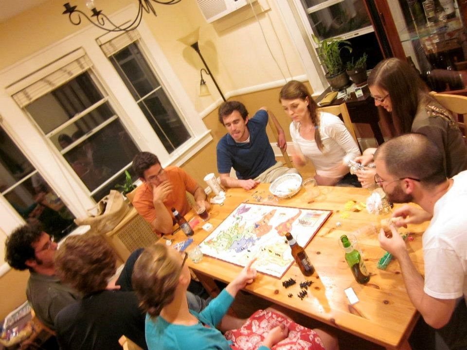 Many games nights at our house