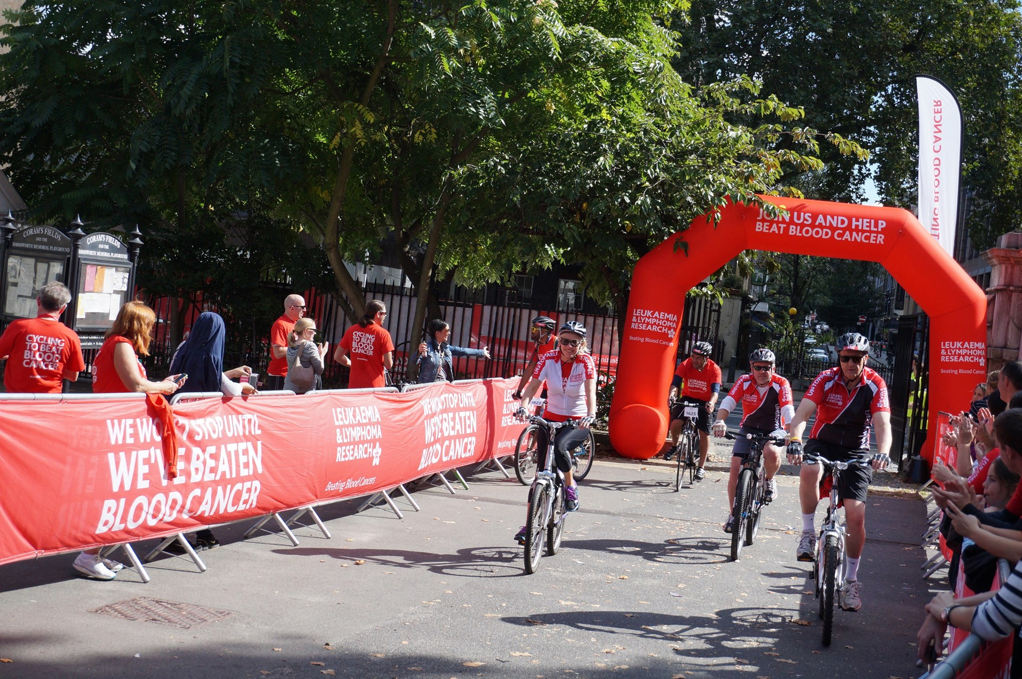 Finishing point at London Coram's Fields
