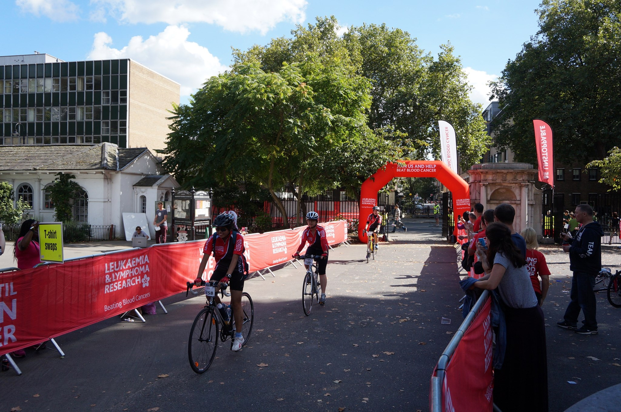 Finish point at London Coram's Fields