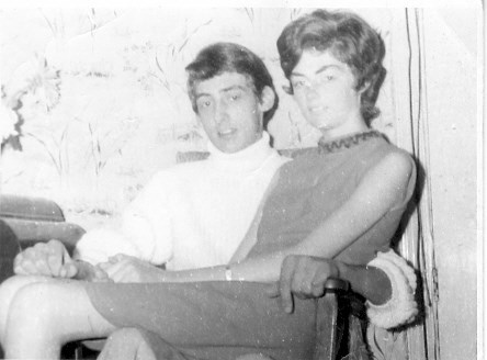 Mum with her brother John who sadly died in his early twenties. I hope you are at peace together now x