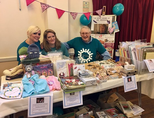 Michelle, Dad and I all very tired but proud to have done the stall for lovely Mum xxx