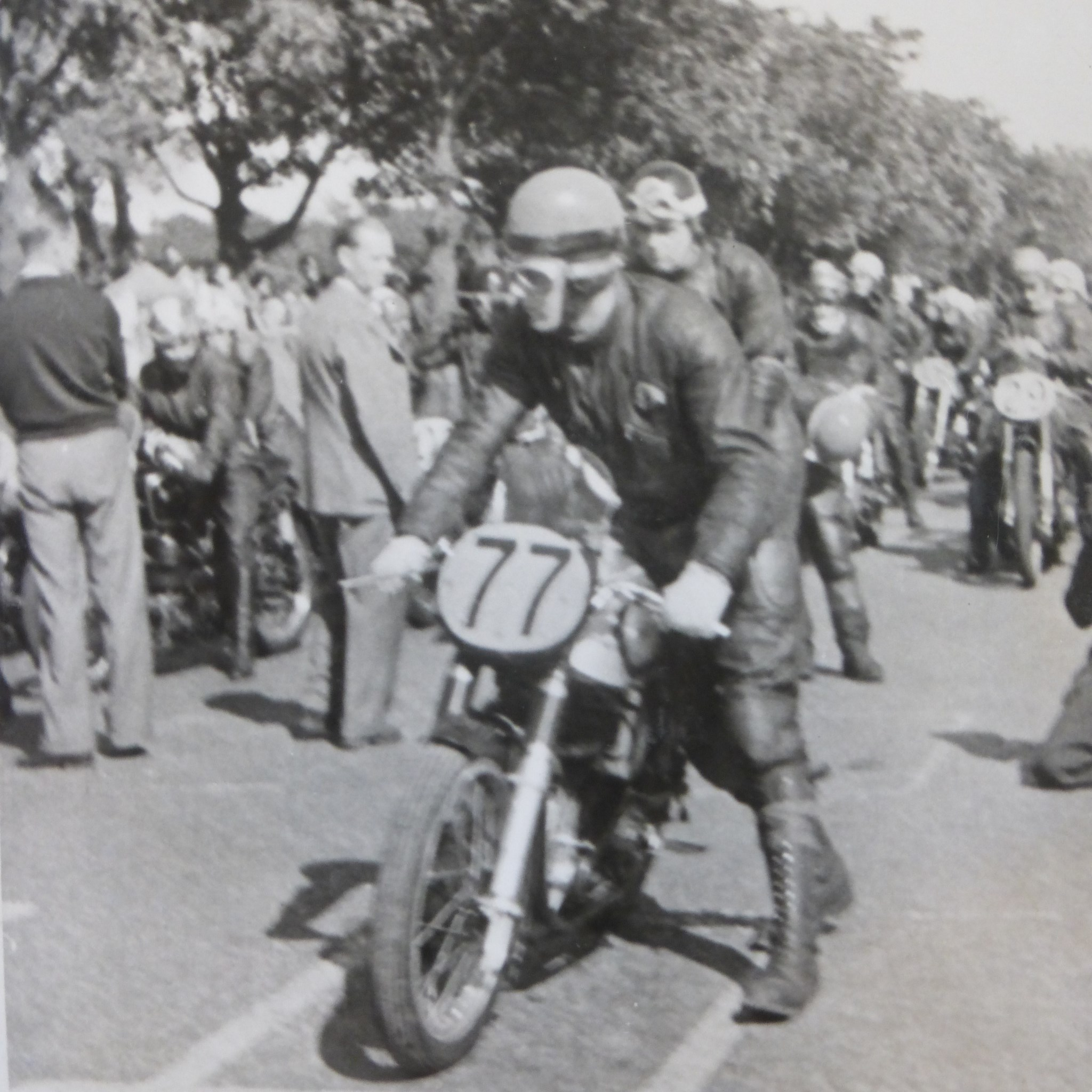 On the start line, probably not at the TT though.