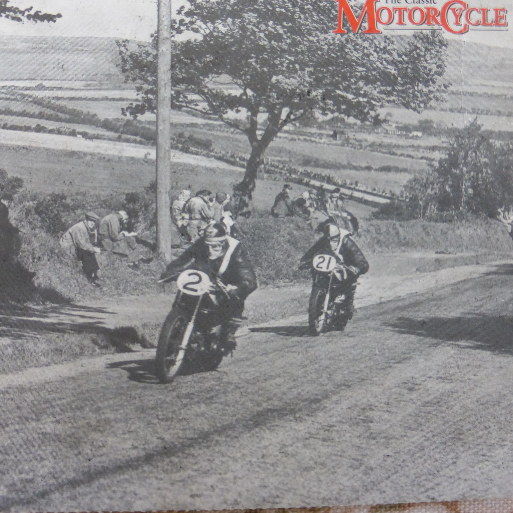 Don (21) on his way to 8th in the Senior TT 1950