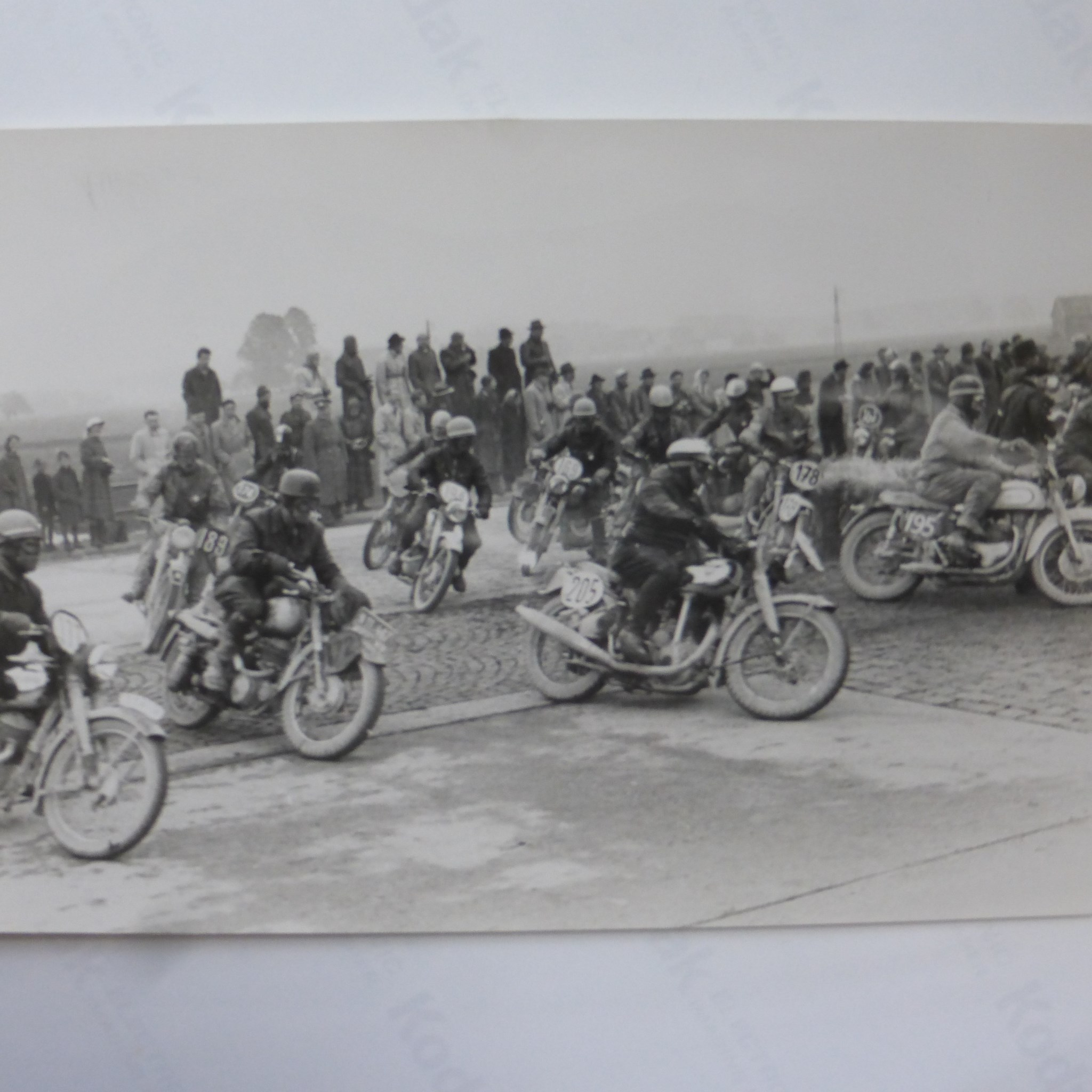 Don racing in Austria in the International six days trial. 1952 no 195