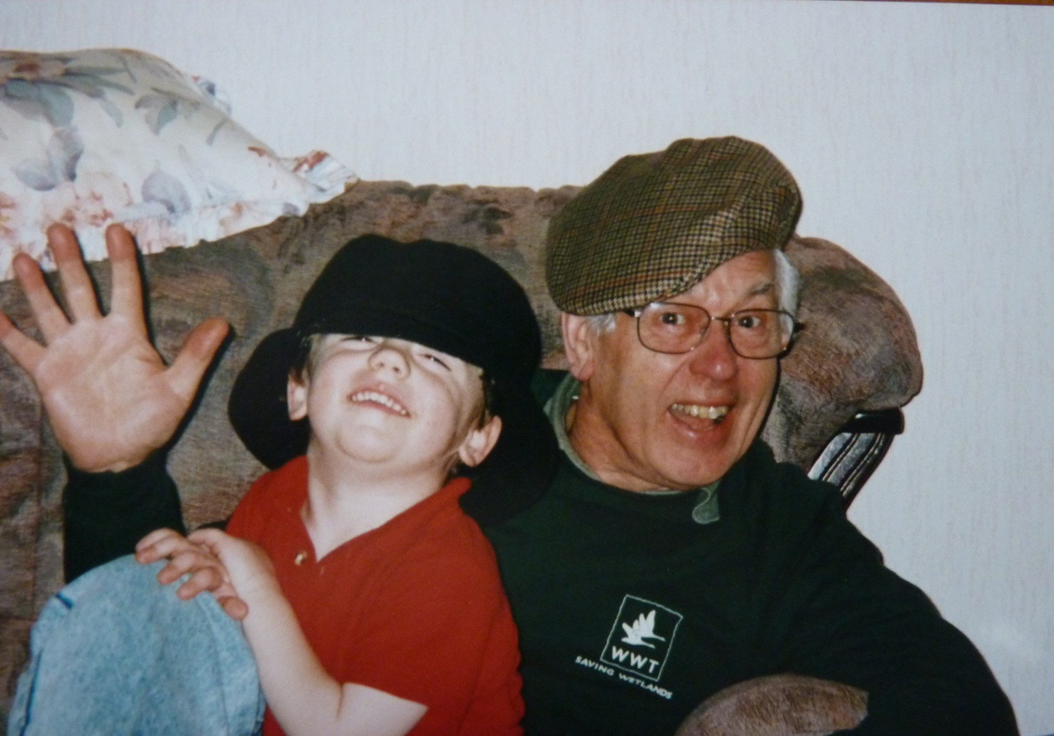 Thomas (then about 5) and grandad having fun!