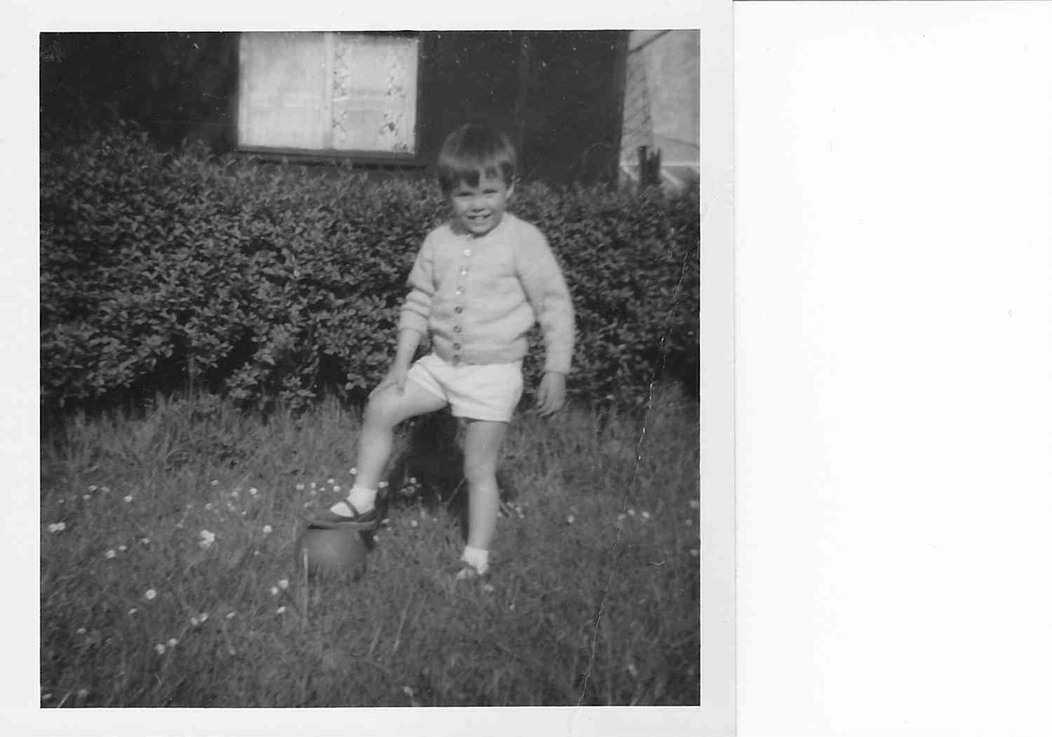 A footballer from an early age!