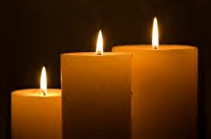 candle light in memory of Faith