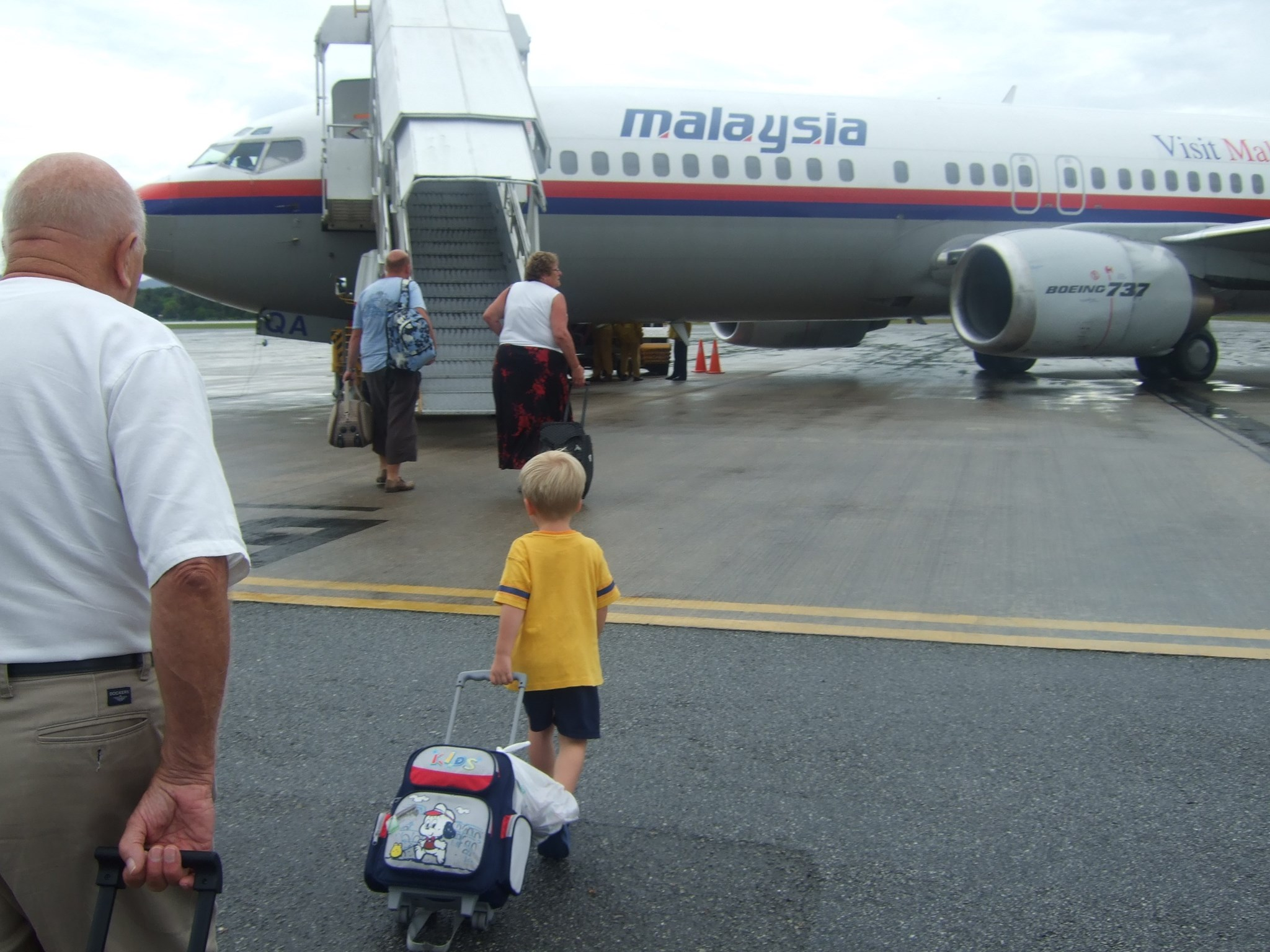 Supervising Harry Langkawi bound. Second flight after 14 hours in the air.