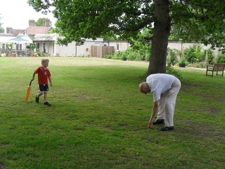 cricket on the Albert Cottage Lawn