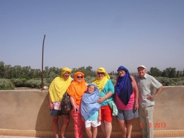 partly entering into the spirit in Morocco!