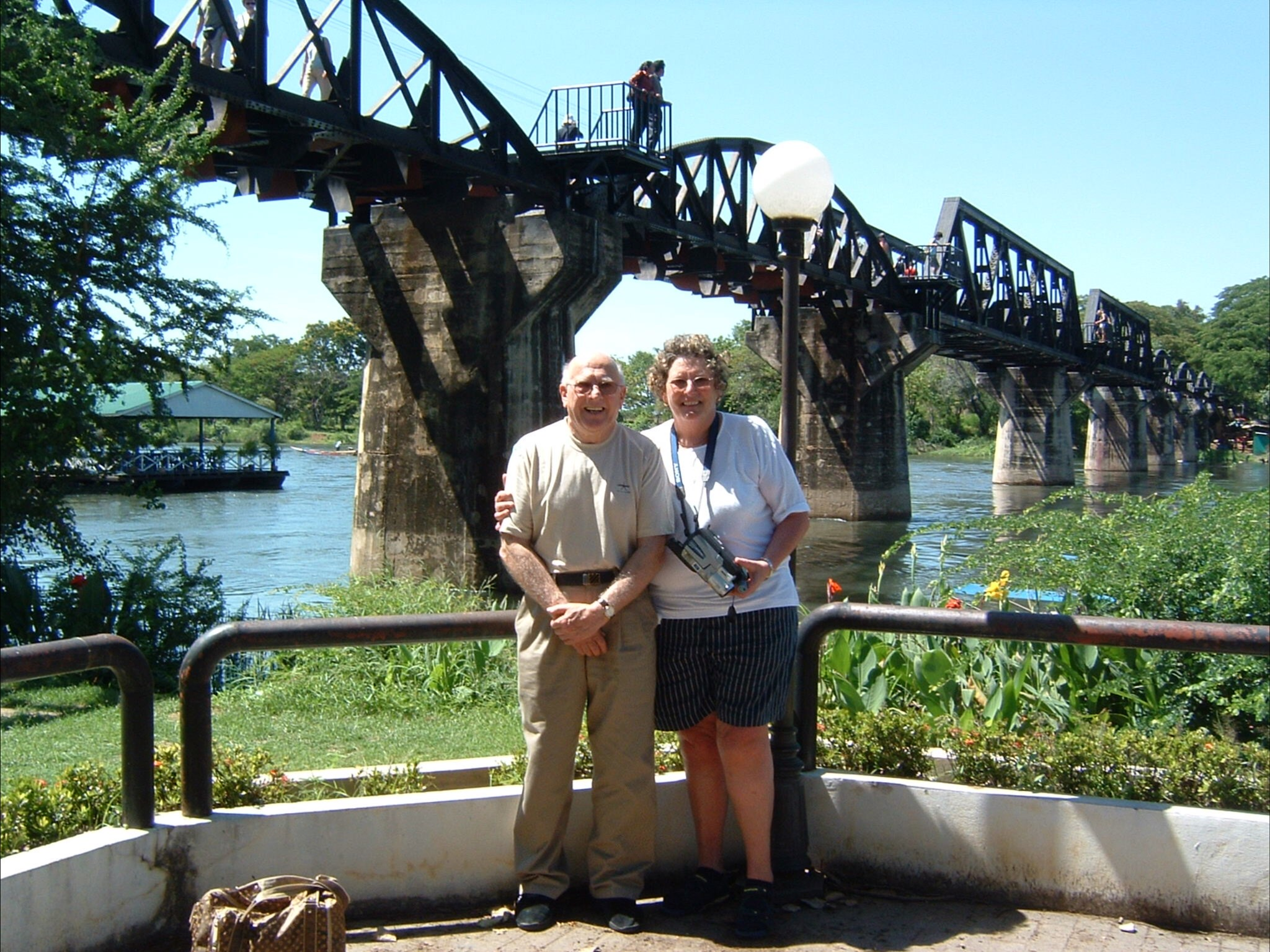 jon was so pleased to visit the bridge over the river kwi