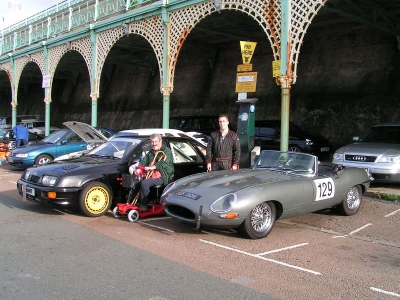 Dad & me with the Sierra and Etype