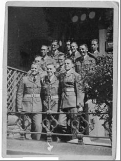 Morecambe July 1941 - with his pals at the billet.