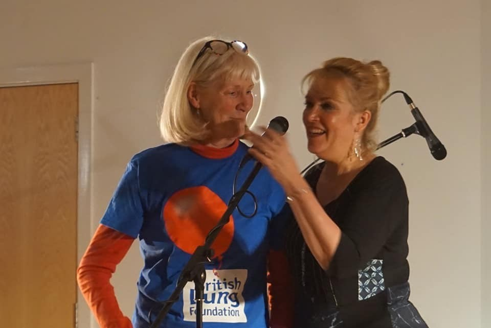 Judy and the wonderful Kathy Stewart-Kennedy raising money for BFL and The Cheyne Gang Choir.