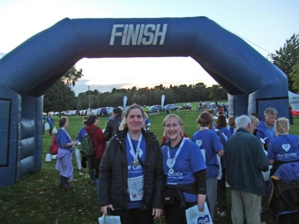 Mary and Jayne finish the 2010 Walk of Hope in memory of Ian