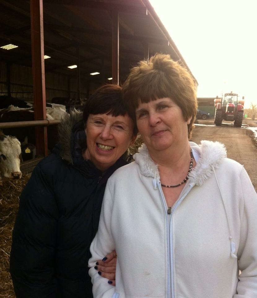 Bev and her sister Lorraine 2013