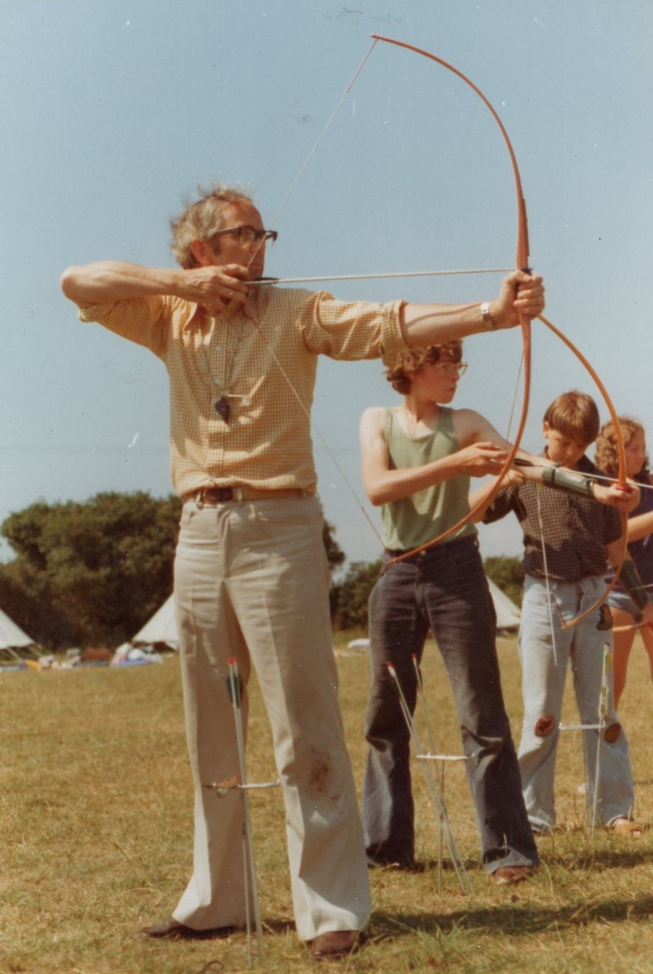 For many years Dad ran a summer camp called Falcons at Climping, West Sussex.