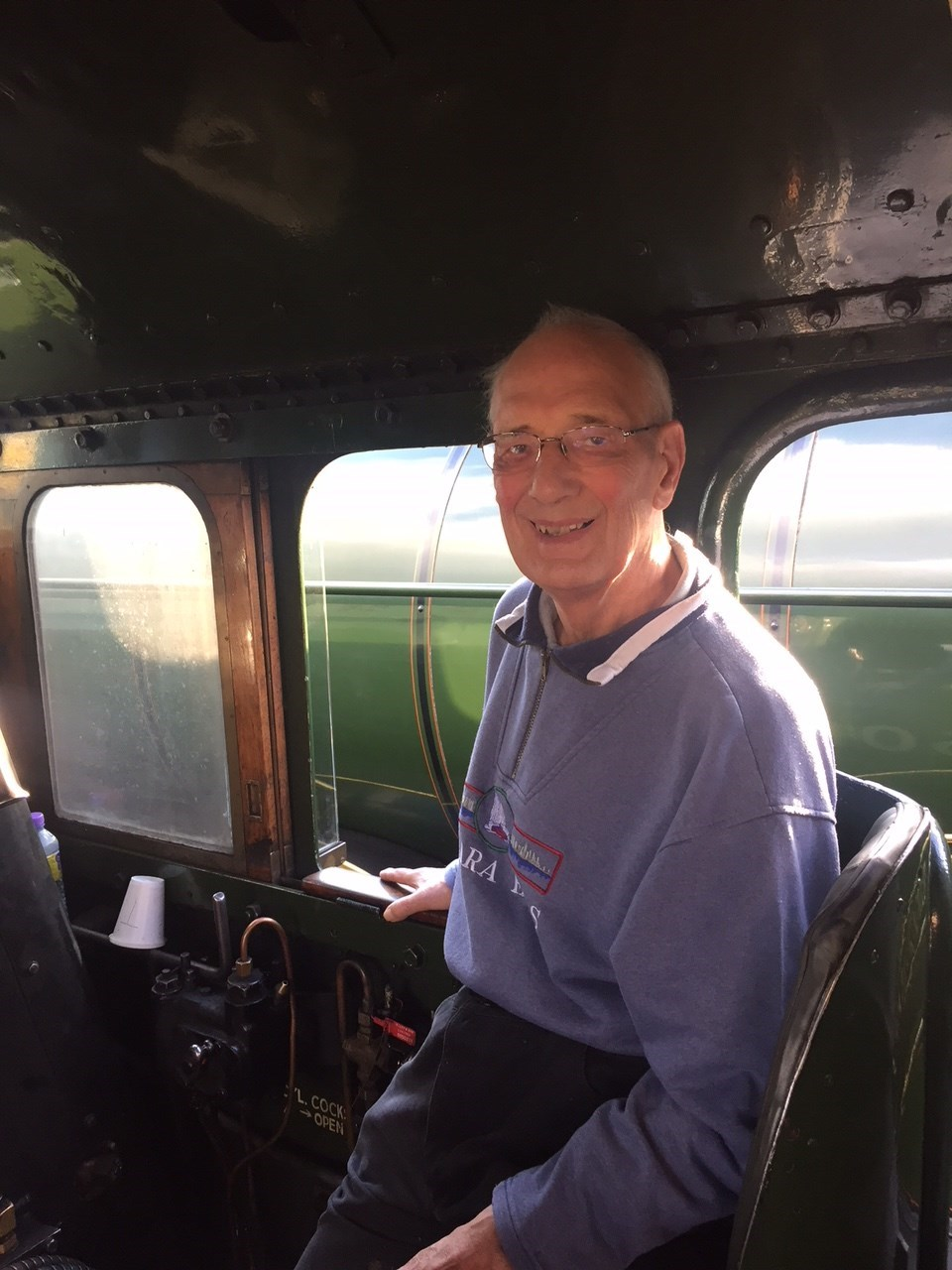 Dad on the Flying Scotsman