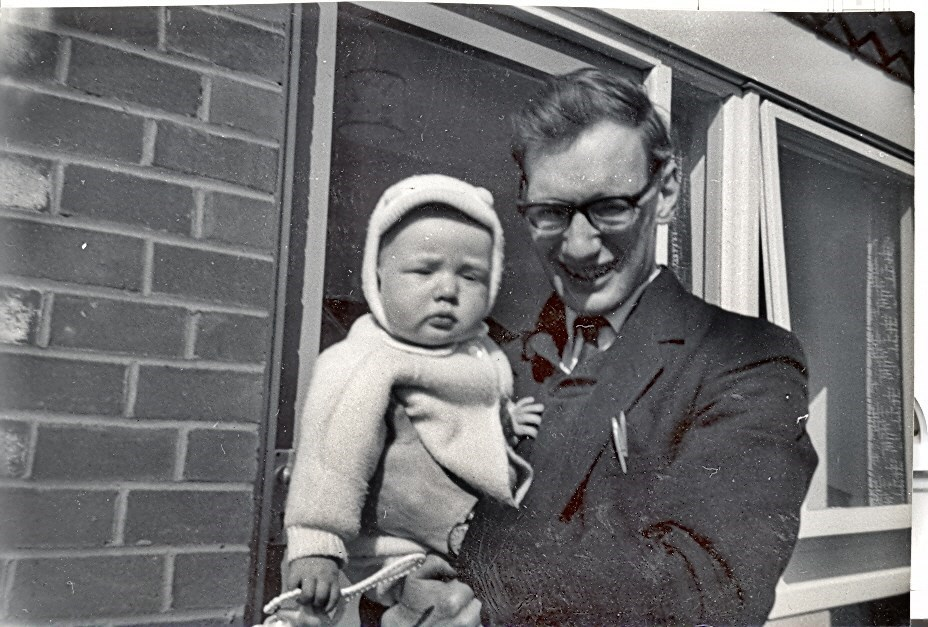 David with Ian - March 1966 at Jordan Ave, Stretton