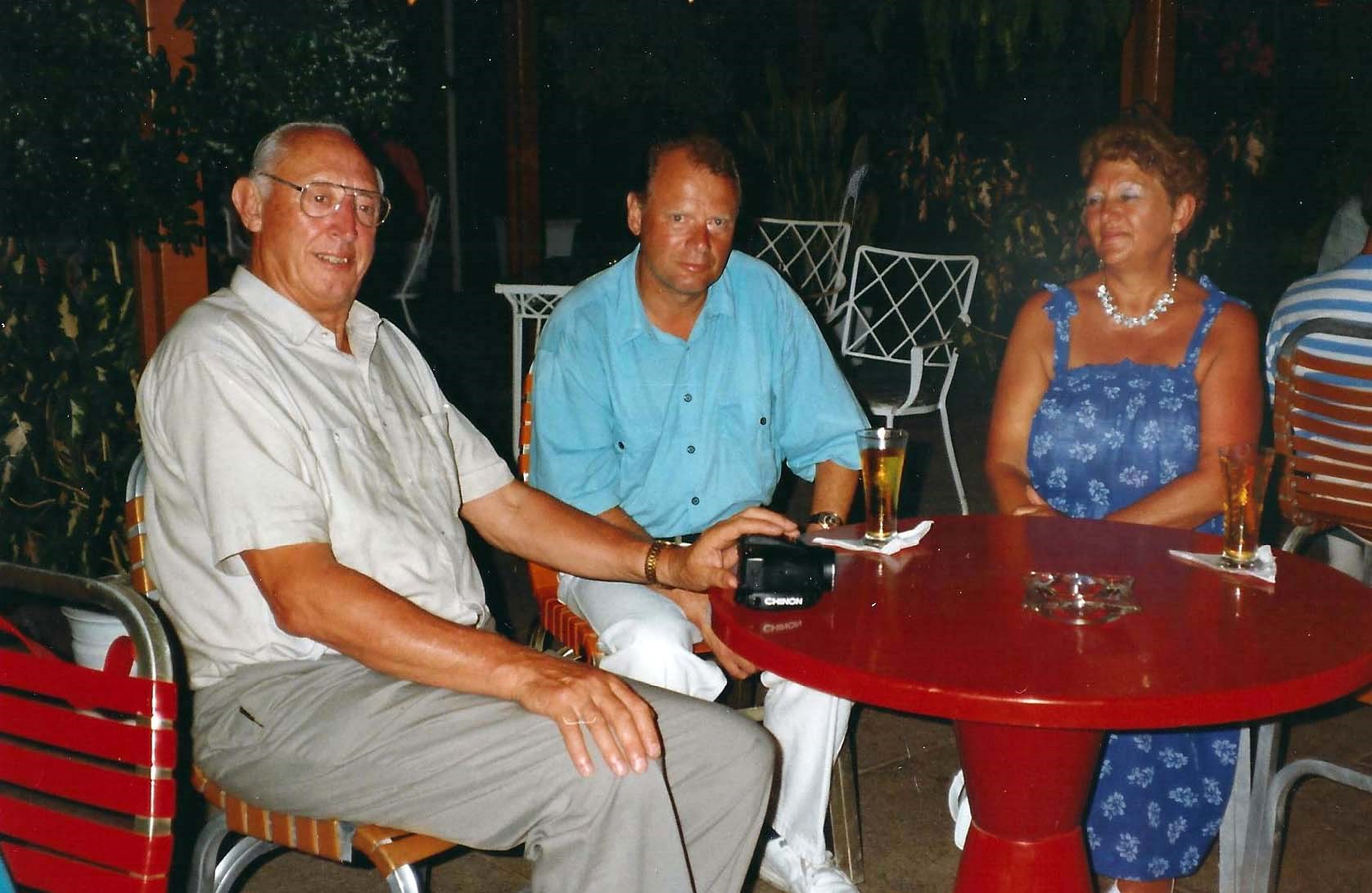 Dad in Tobago with mum and Willie & Kathi
