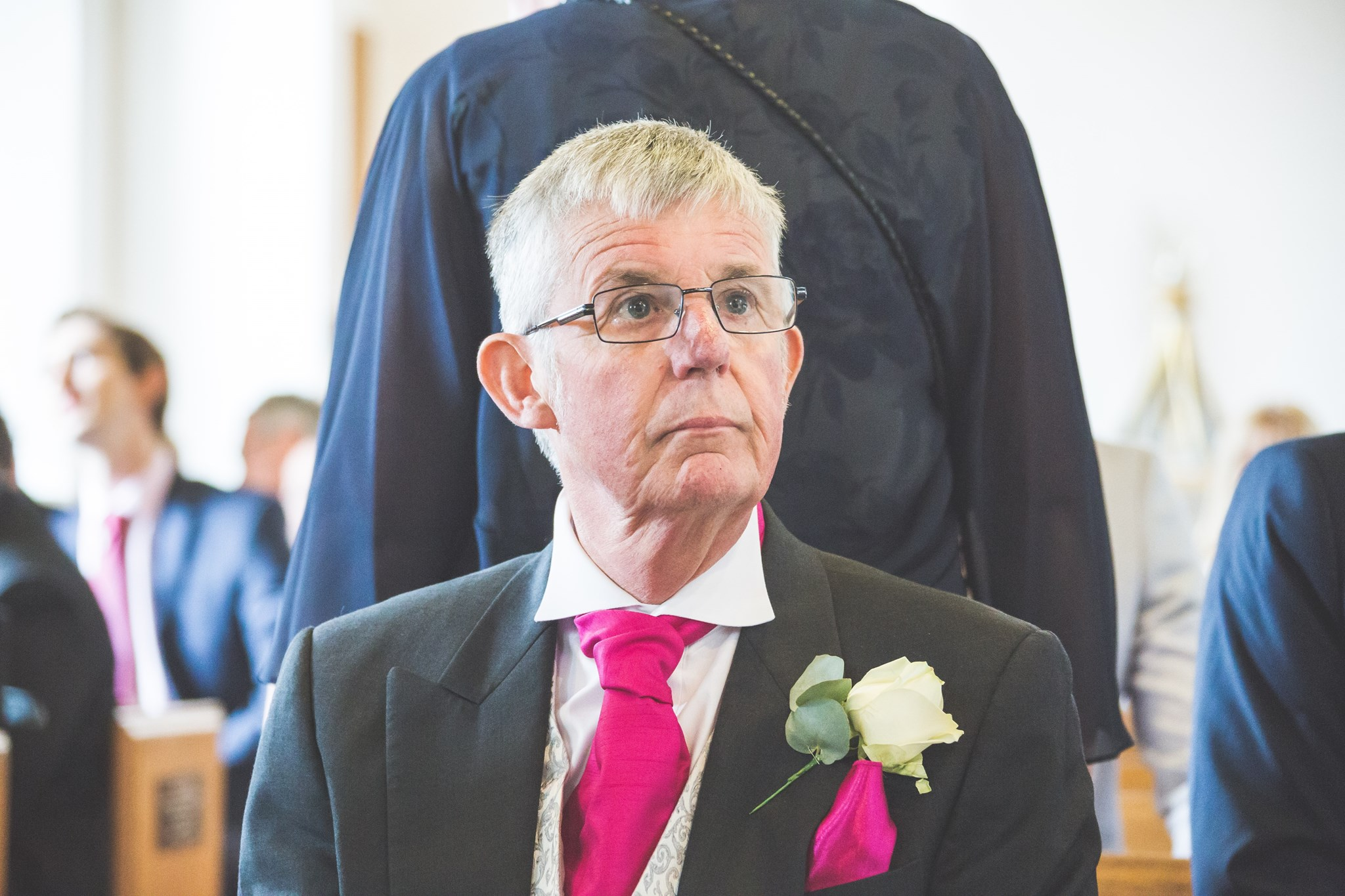 Dad in the church before our wedding
