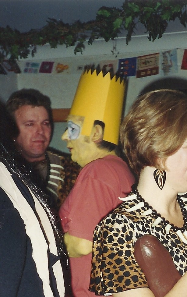 .... and as Bart Simpson - another fancy dress party!