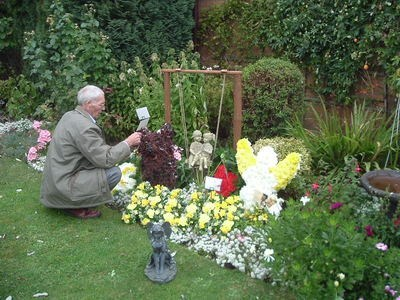 Dad and Floral Tributes