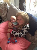 Baby Harry with his little sister x
