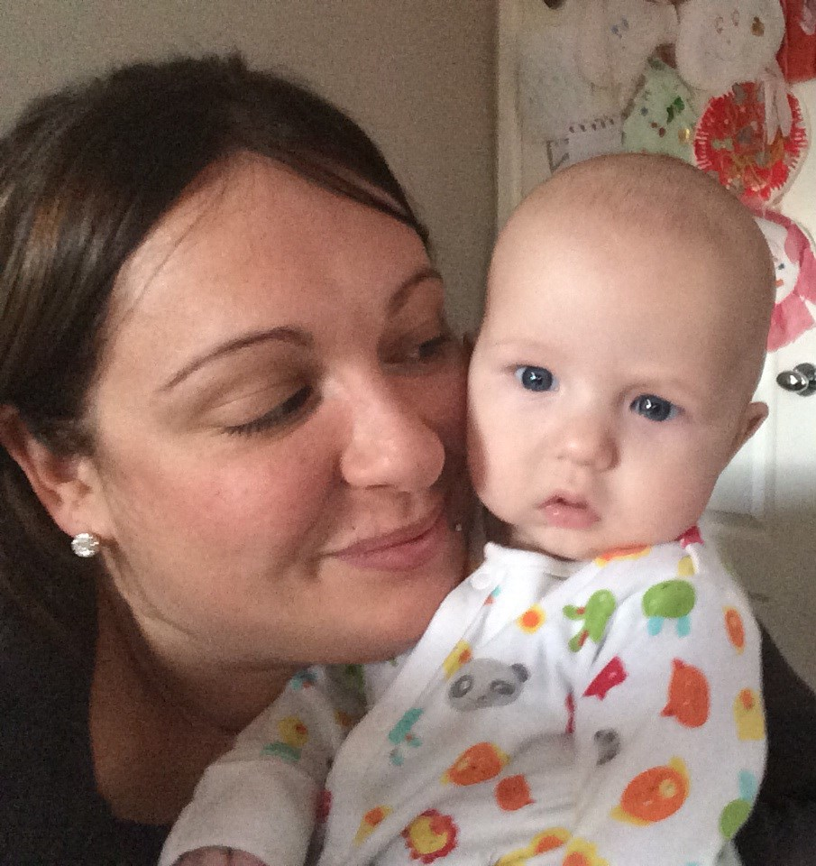 Eskimo kisses and snuggles with auntie michy xx????