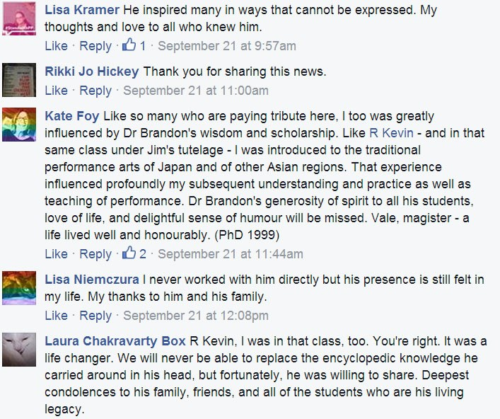 Dr. Brandon Memories Shared on Facebook